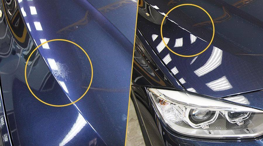 Полировка капота BMW 320