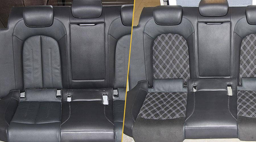 Перетяжка элементов сидений Audi A6