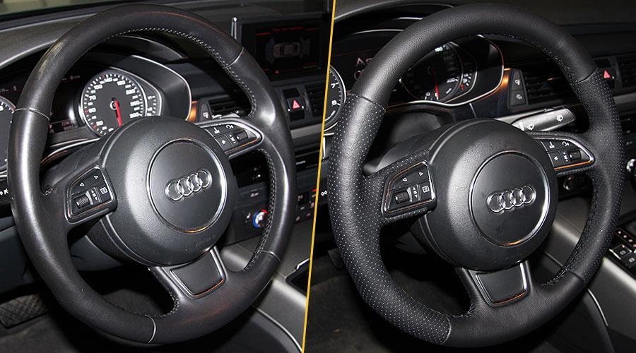 Перешивка руля Audi A6