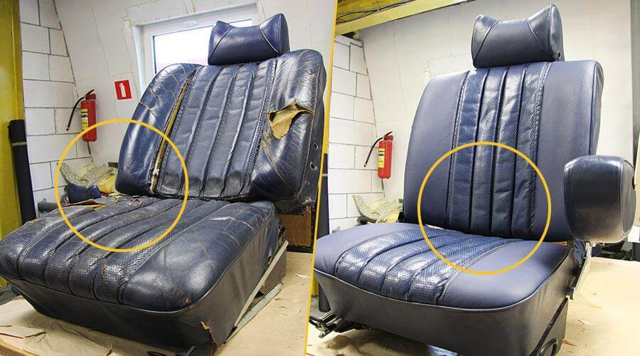 Реставрация и перетяжка сидений Mercedes-Benz W111