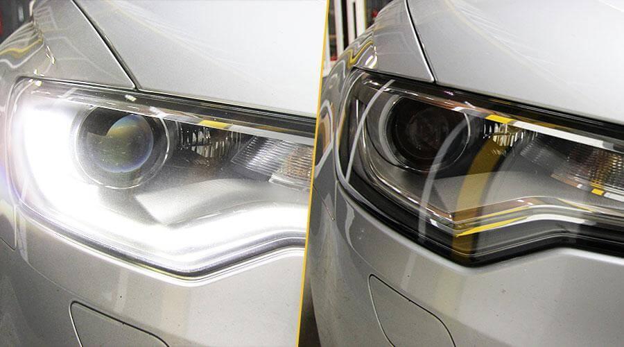 Полировка фар Audi A6