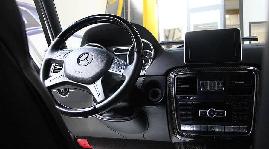 Комплексная химчистка салоне Mercedes-Benz Gelandewagen