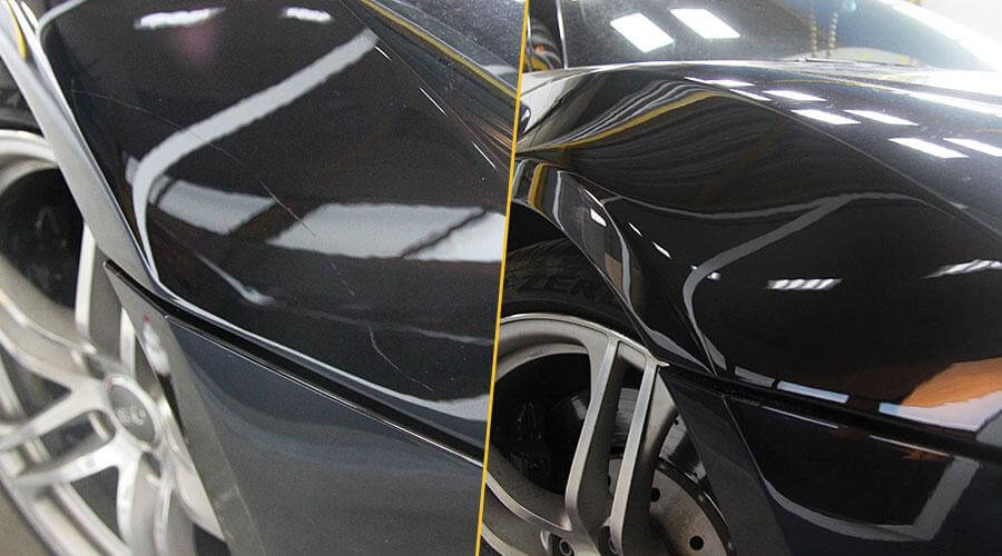 Локальная полировка крыла Audi R8