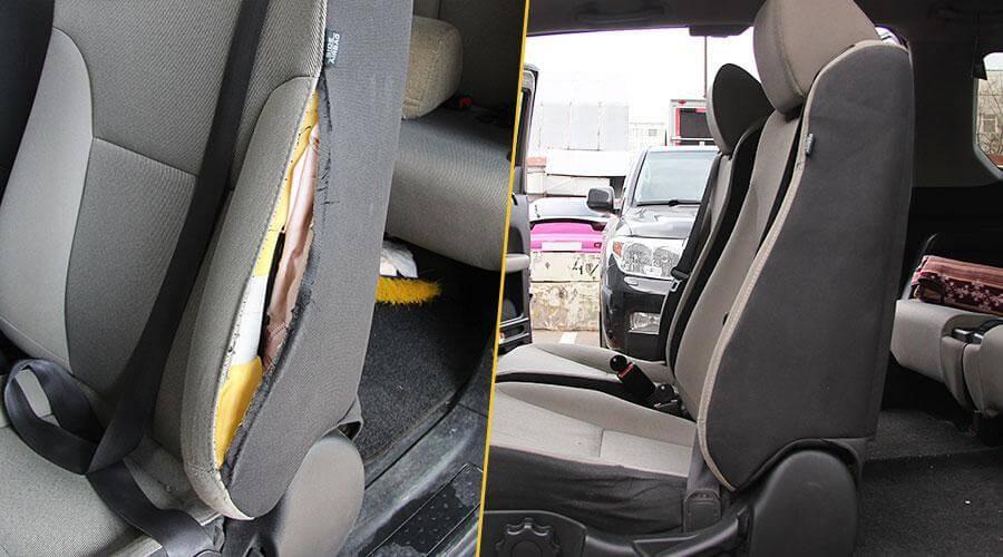 Ремонт шва сиденья после срабатывания подушки безопасности Honda Element