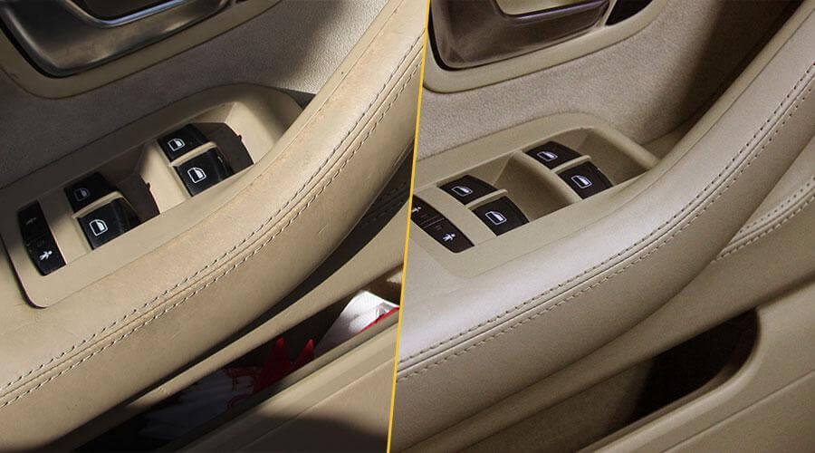 Реставрацияя и покраска сидений и элементов салона Audi A8