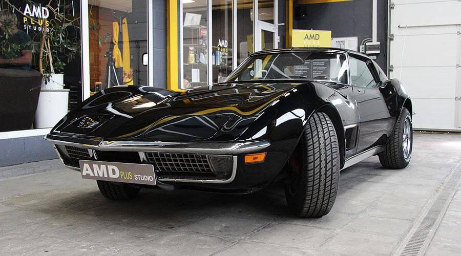Полировка и покрытие Optimum Gloss Coat Chevrolet Corvette 1969 года