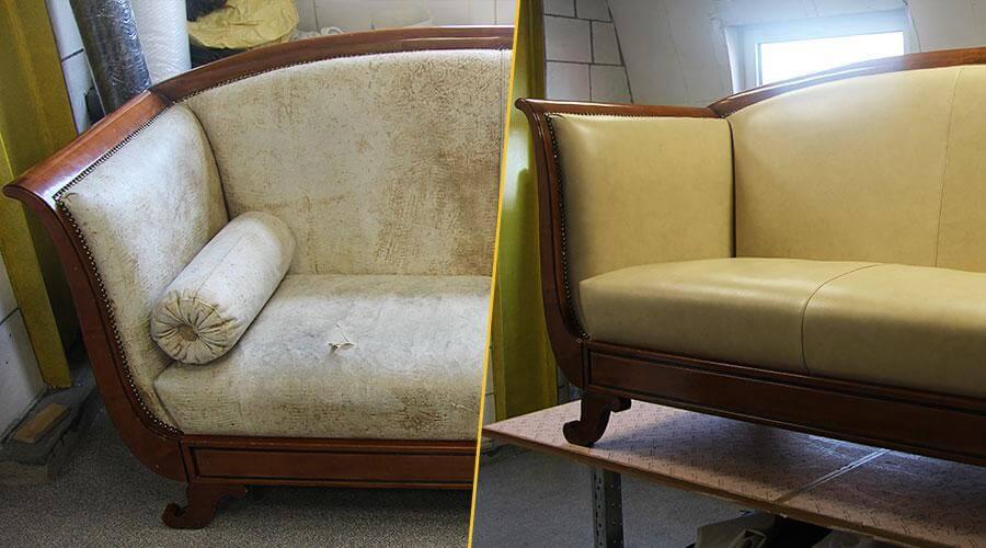 Комплексная перетяжка дивана