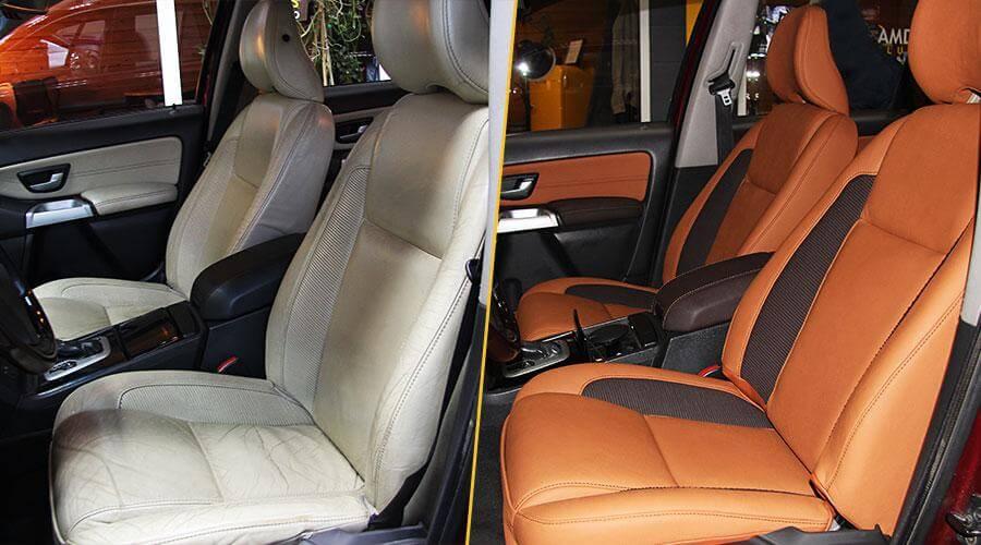 Перетяжка сидений и дверей Volvo XC 90