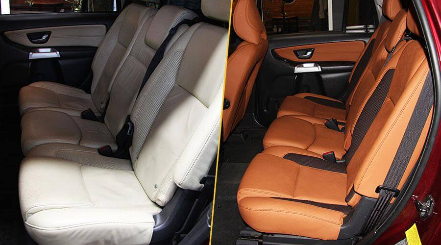 Перетяжка сидений и дверей кожей Volvo XC 90