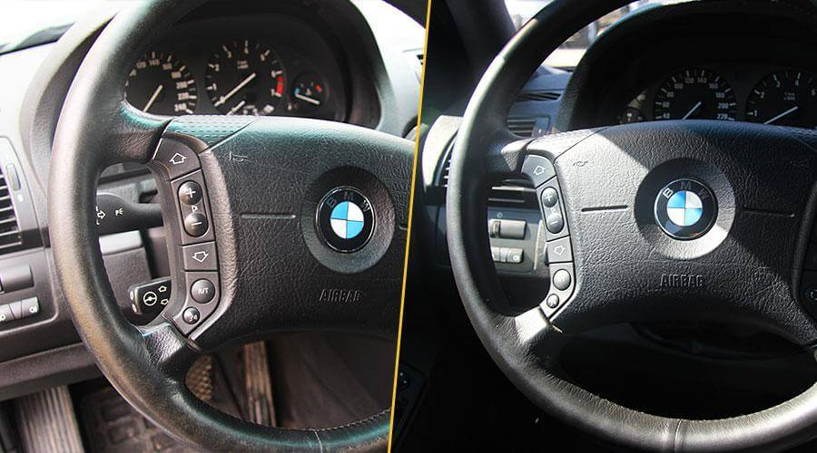 Покраска обода руля BMW X5