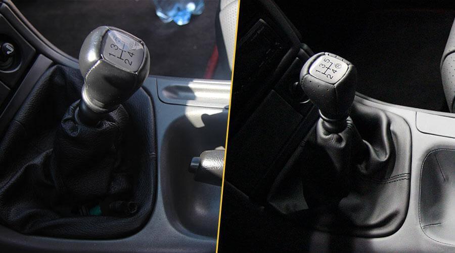 Перетяжка КПП в кожу Ford Cougar