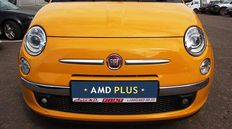 Нанесение защитного покрытия Opti-Coat Pro аппликатором Fiat-500