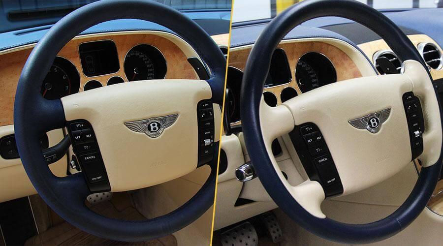 Перетяжка руля кожей Bentley