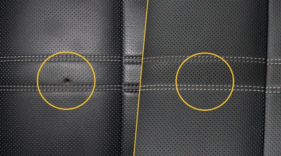 Удаление прожога на сиденье Lexus RX-200t