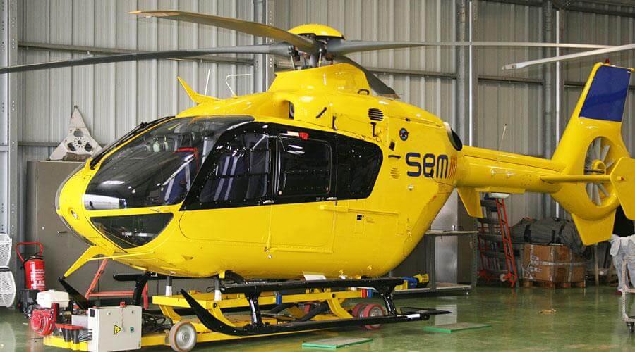 Чистка и полировка стекол вертолета
