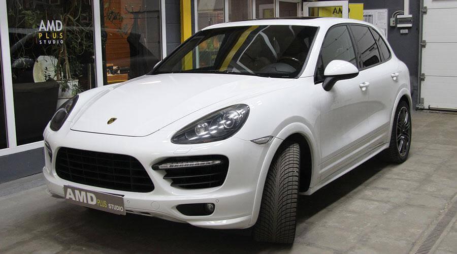 Восстановительная полировка авто Porsche Cayenne