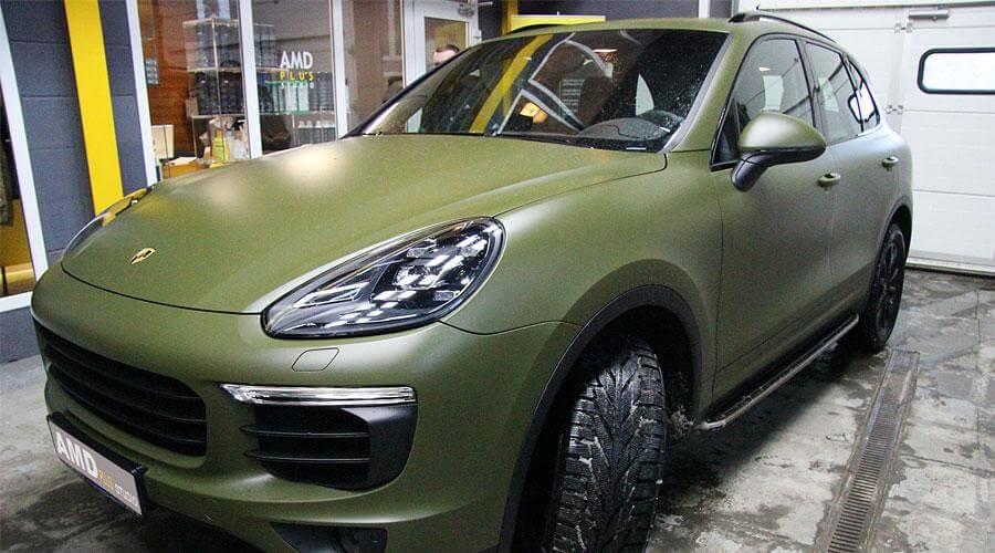 Полировка и нанесение защитного покрытия Opti-Coat Pro Porsche Cayenne
