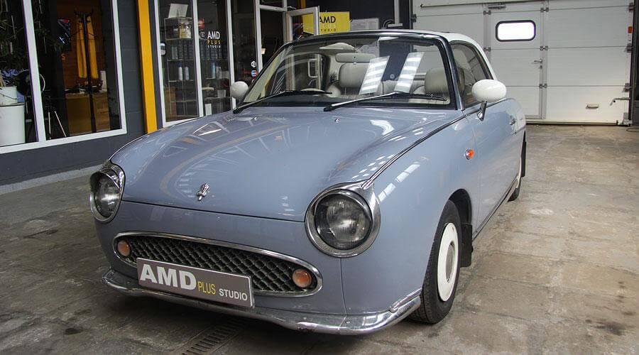 Реставрация салона ретро авто Nissan Figaro