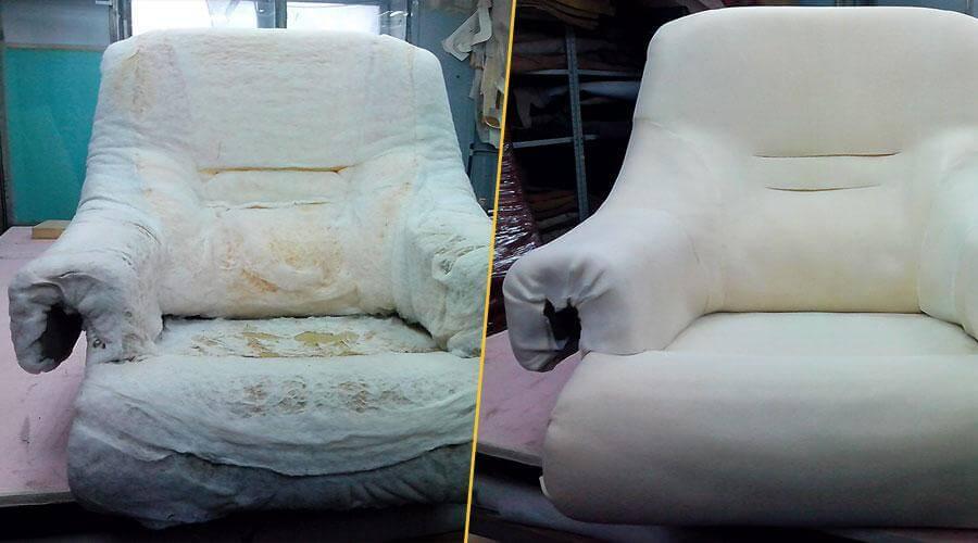 Ремонт поролонового наполнителя кресла