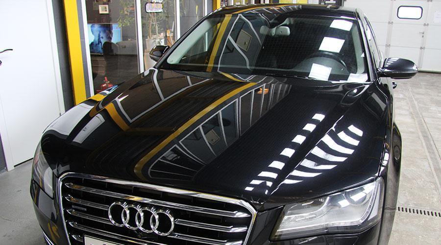 Полировка и защитное покрытие Optimum Gloss Coat Audi A8