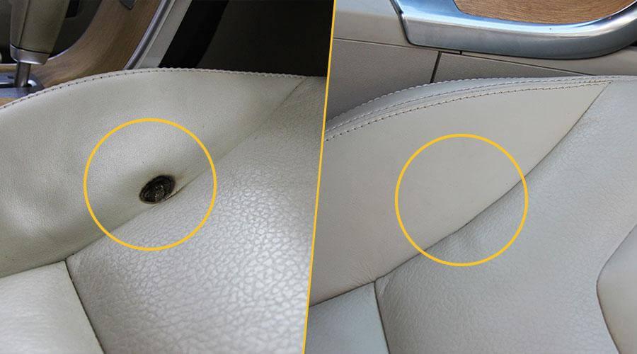 Устранение прожога на сиденье Volvo XC60