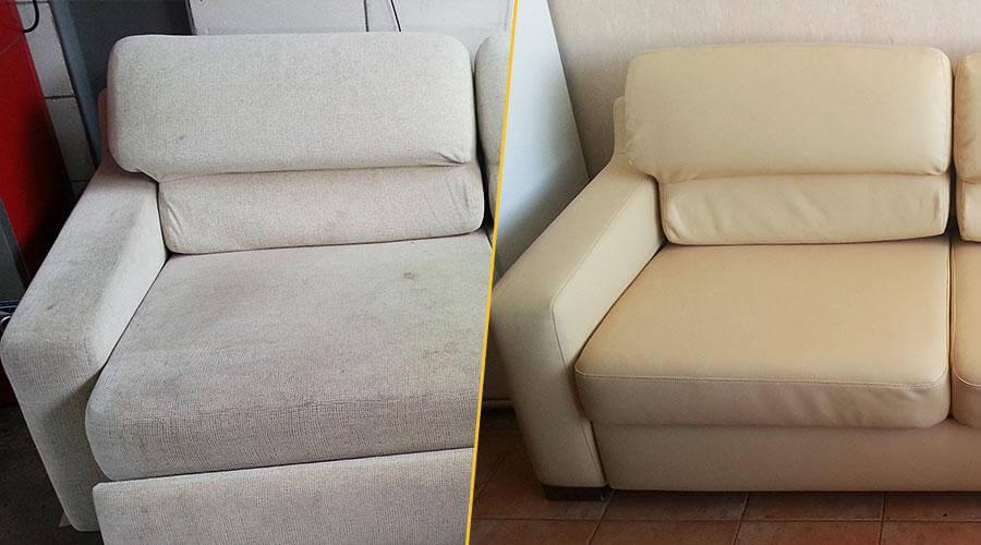 Перетяжка дивана и восстановление поролона