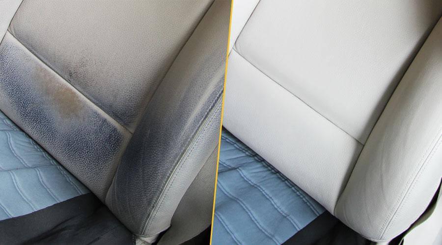 Покраска спинки кресла BMW 530