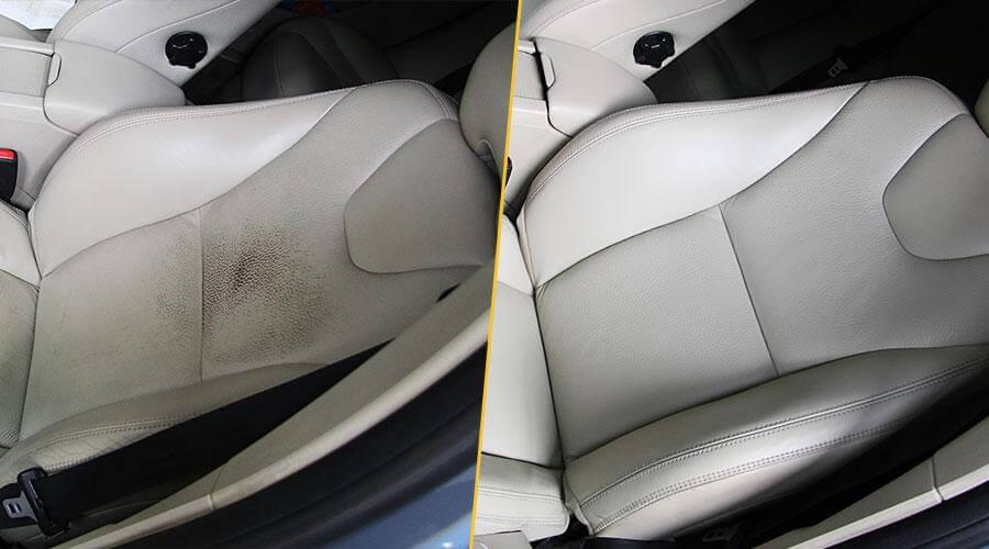Покраска лицевой части кресла Volvo XC60