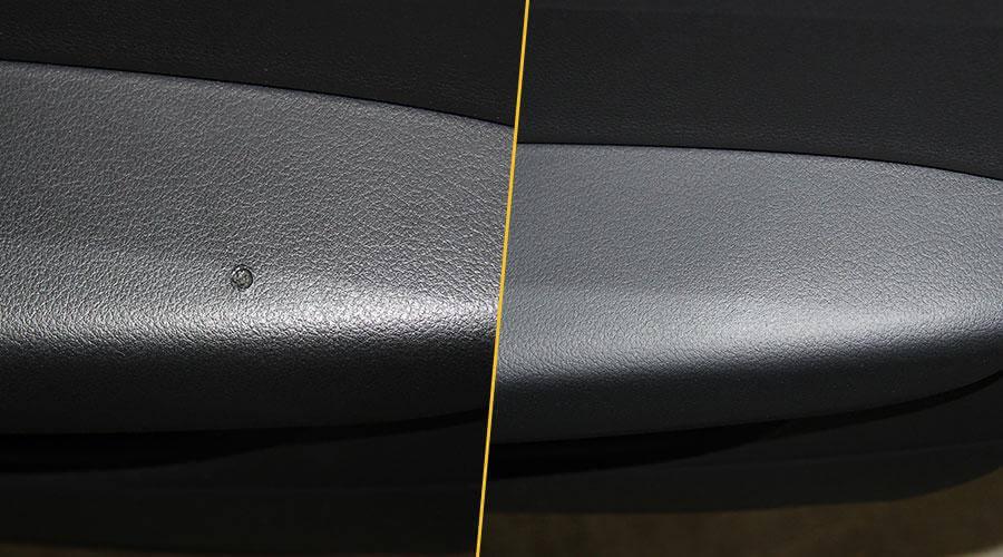 Ремонт прожога на двери Audi A6