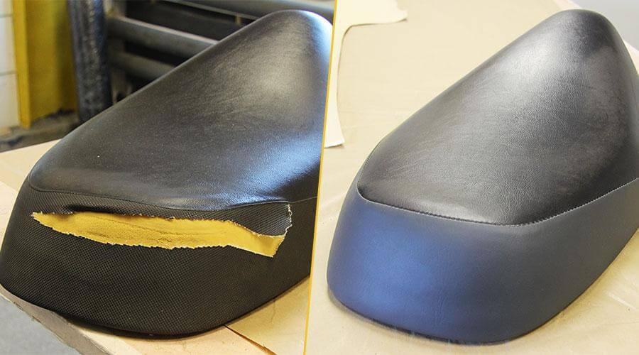 Реставрация сиденья скутера