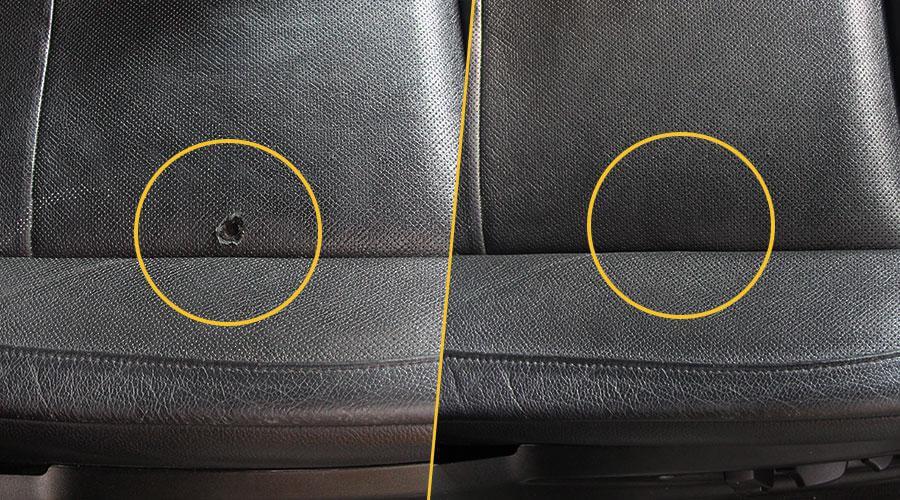 Реставрация пореза сиденья BMW X5