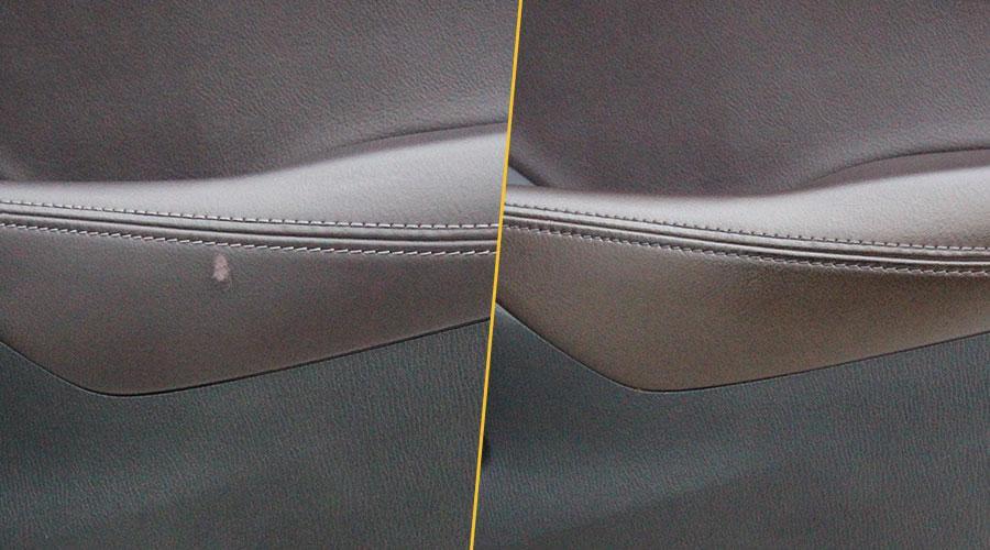 Ремонт потертостей обшивки двери Mazda 6