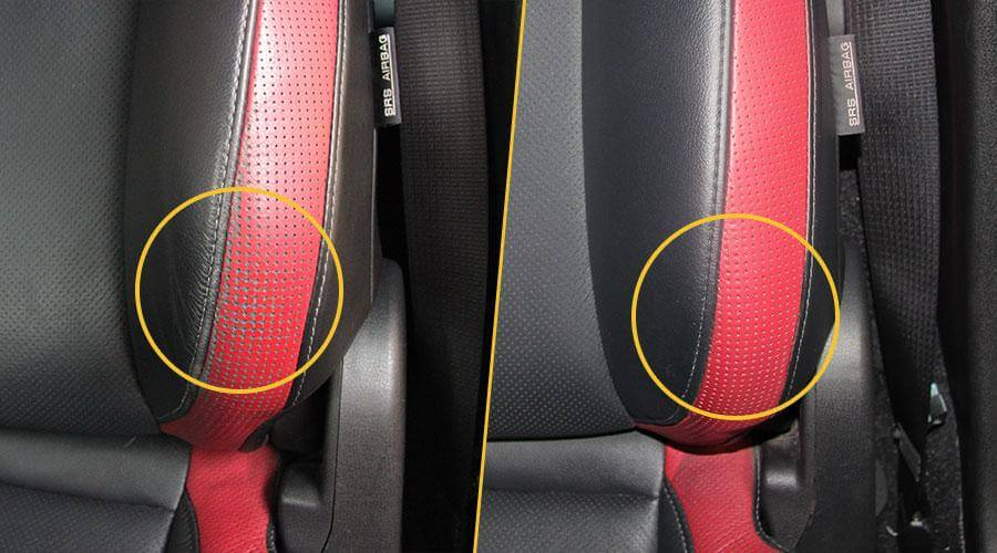 Покраска спинки сиденья Nissan GT-R