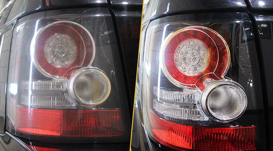 Полировка задних фар Range Rover Sport
