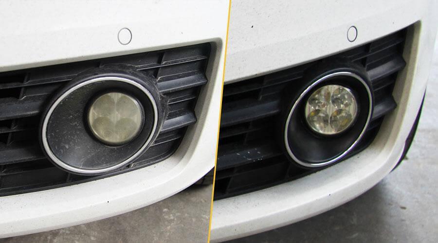 Полировка противотуманных фар Audi A7