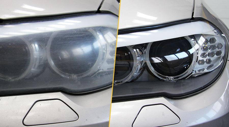 Полировка фар и нанесение защитного покрытия BMW-530