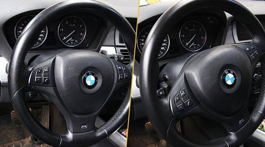 Покраска обода руля BMW X5 M50D