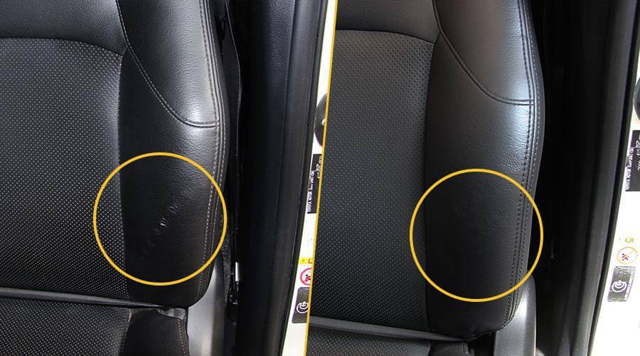 Удаление царапин на сиденье Toyota Land Cruiser