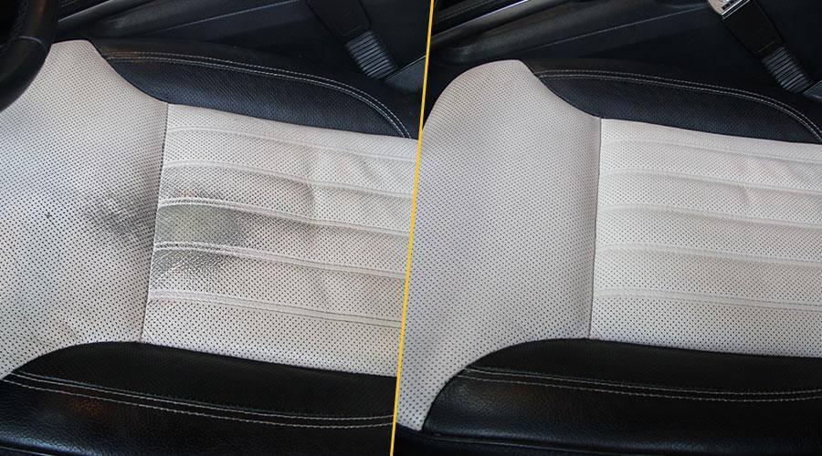 Покраска водительского сиденья Mercedes Benz GL500