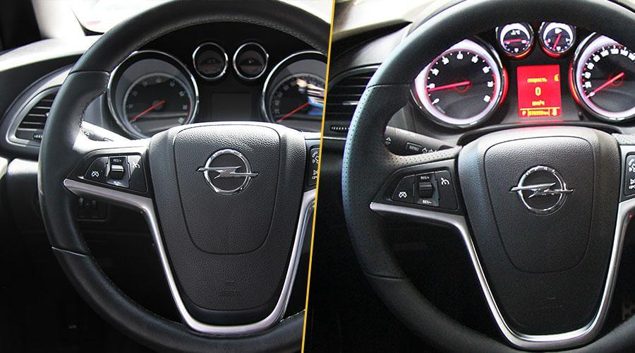Перетяжка обода руля Opel Astra