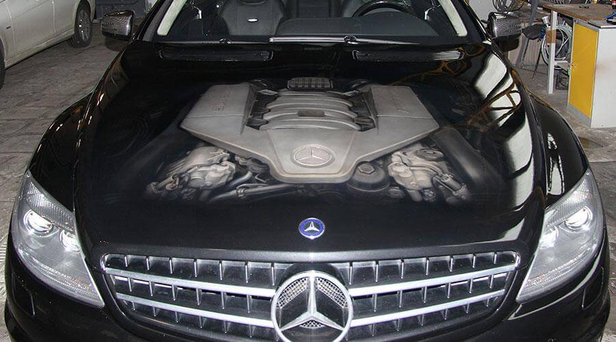 Полировка и премиальное защитное покрытие Opti-Coat Pro Mercedes-Benz CL 550