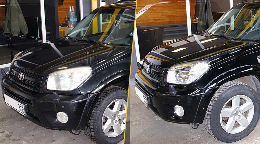 Восстановительная абразивная полировка Toyota RAV-4
