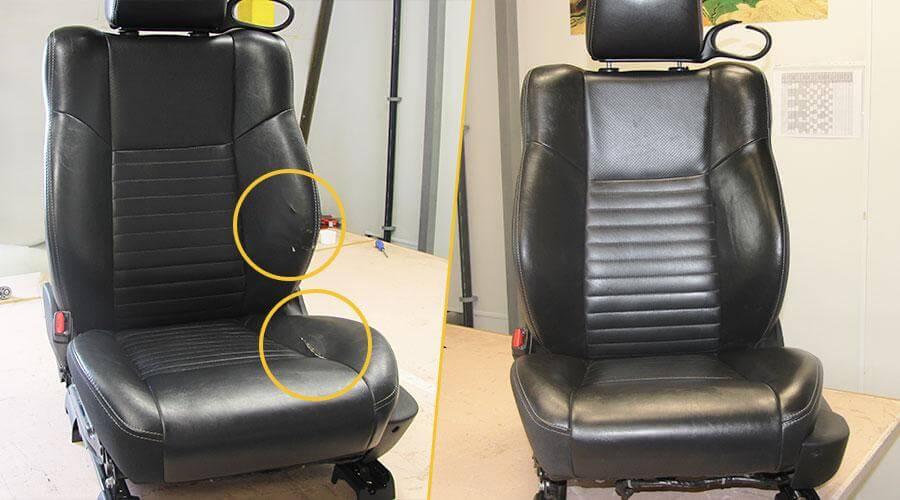 Реставрация водительского сиденья Dodge Challenger