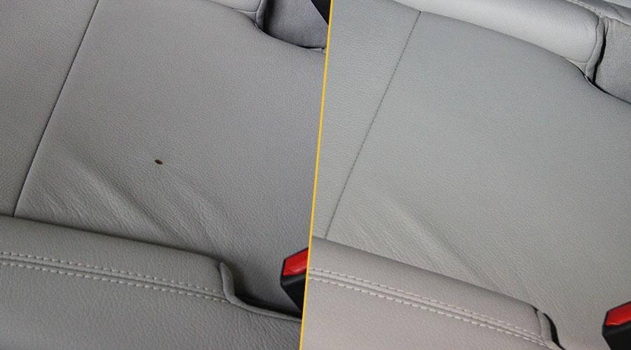 Удаление прожога на кожаном сиденье Mercedes