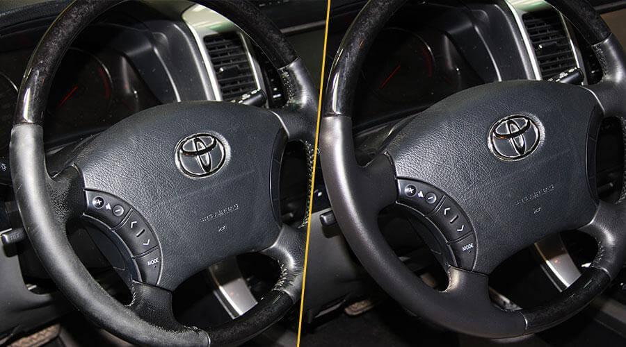 Покраска обода руля Toyota Prado
