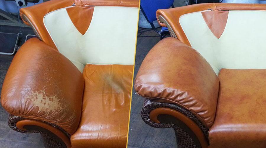 Частичная перетяжка кресла