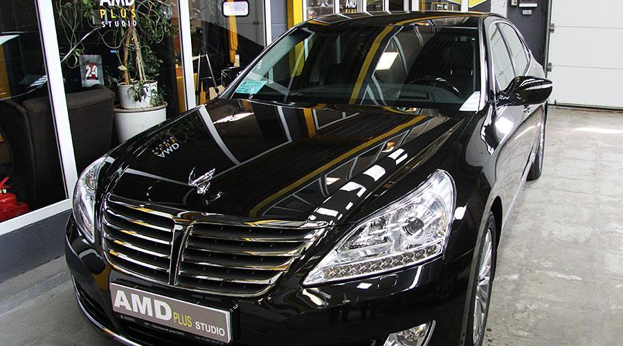 Нанесение защитного покрытия Opti-Coat Pro Hyundai Equus