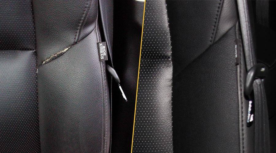 Восстановление шва сиденья Honda CRV