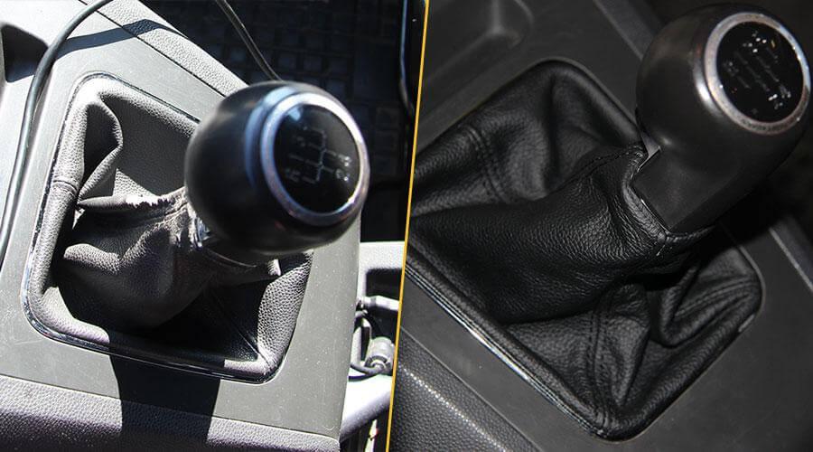 Перетяжка ручки КПП кожей Opel Zafira