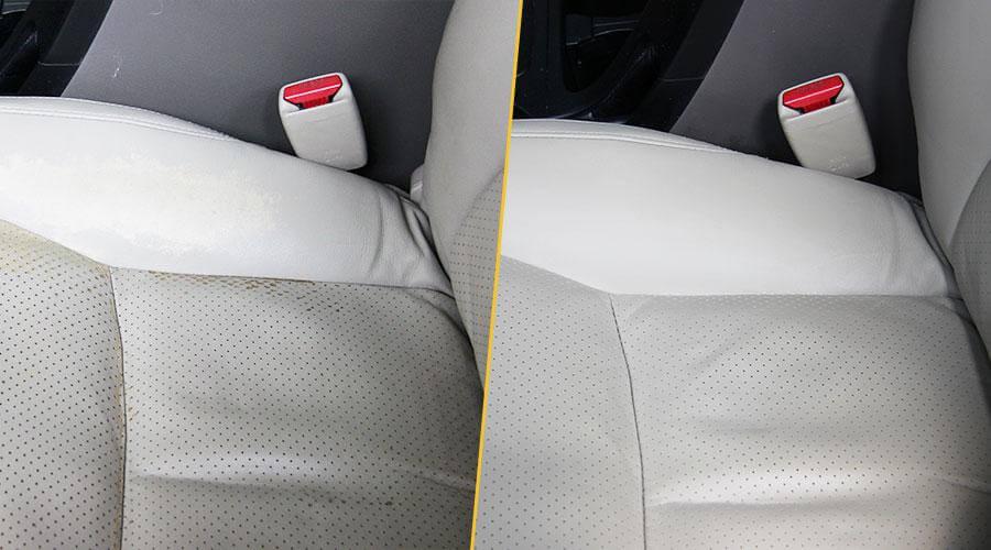 Покраска подушки переднего кресла Toyota Prado